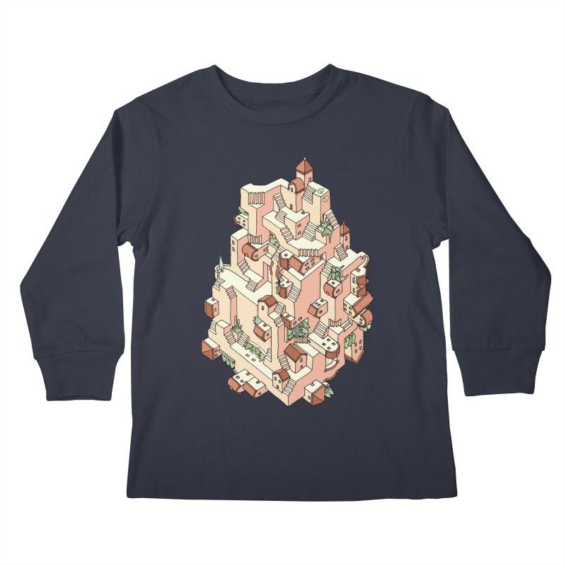 Tower Maze Kids Longsleeve T-Shirt by Sean C Jackson