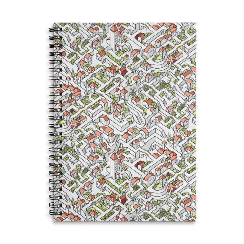 Last Dance Pattern Maze Accessories Lined Spiral Notebook by Sean C Jackson