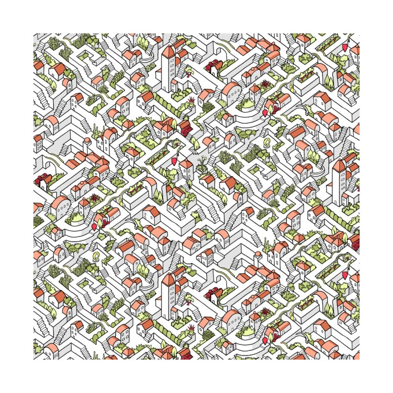 Last Dance Pattern Maze Home Blanket by Sean C Jackson