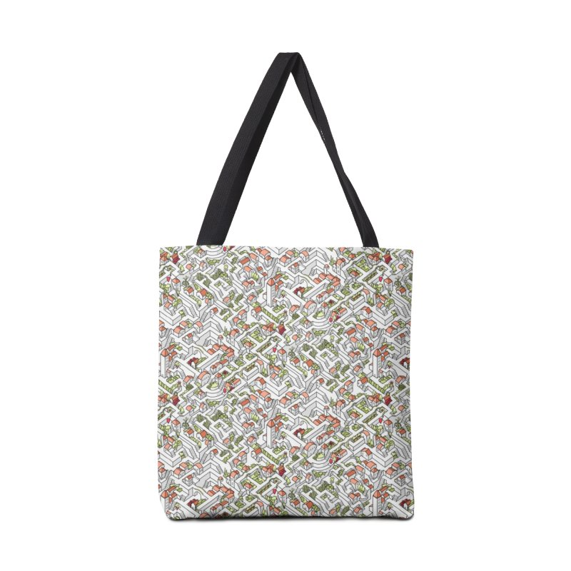 Last Dance Pattern Maze Accessories Tote Bag Bag by Sean C Jackson