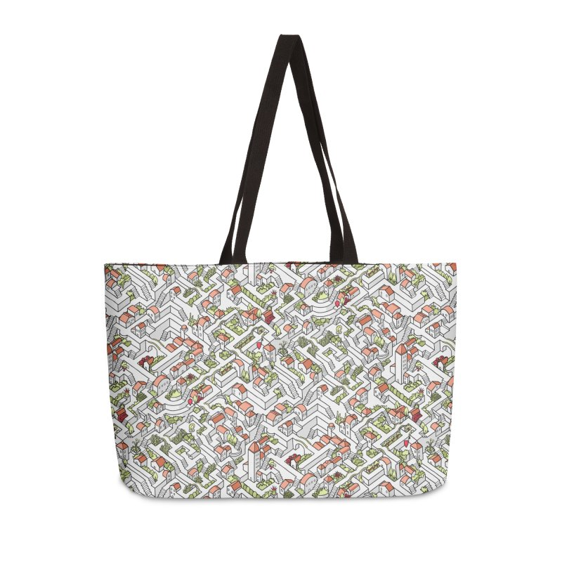 Last Dance Pattern Maze Accessories Weekender Bag Bag by Sean C Jackson