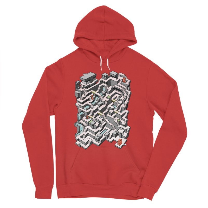 Brutal Maze Men's Pullover Hoody by Sean C Jackson