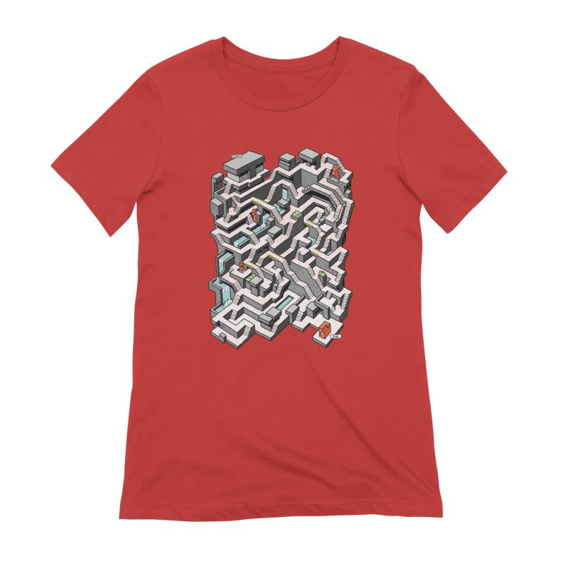 Brutal Maze Women's Extra Soft T-Shirt by Sean C Jackson