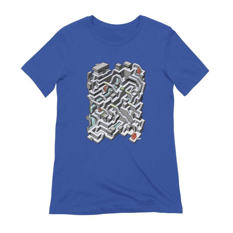 Brutal Maze Women's Extra Soft T-Shirt by Sean C Jackson
