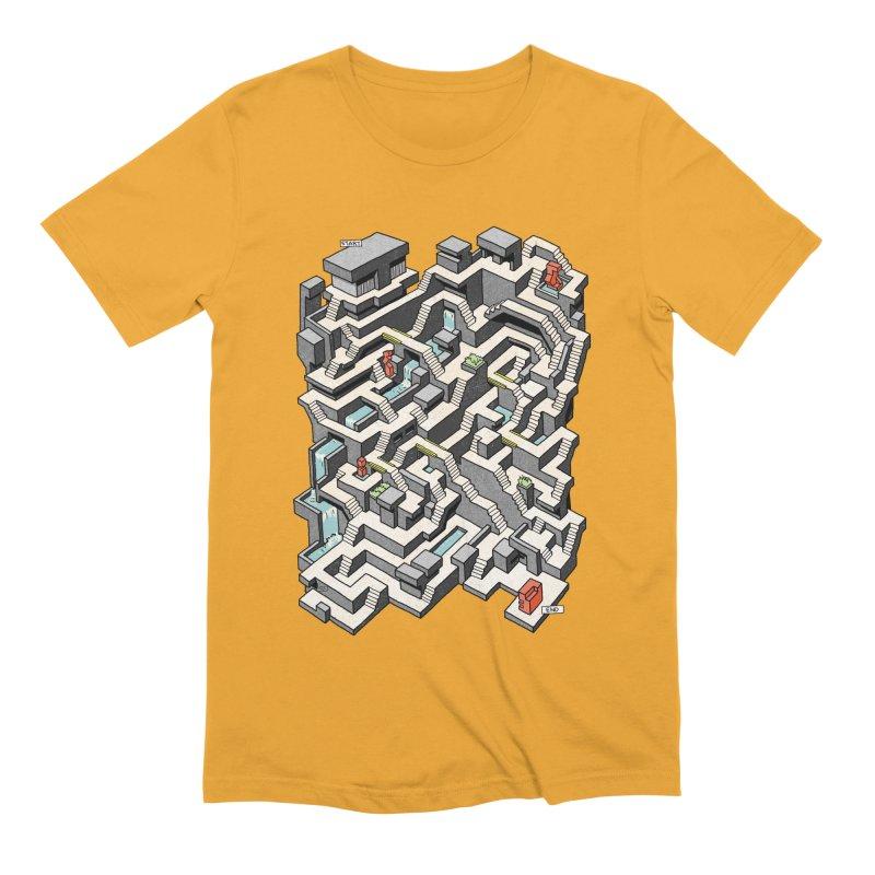 Brutal Maze Men's Extra Soft T-Shirt by Sean C Jackson