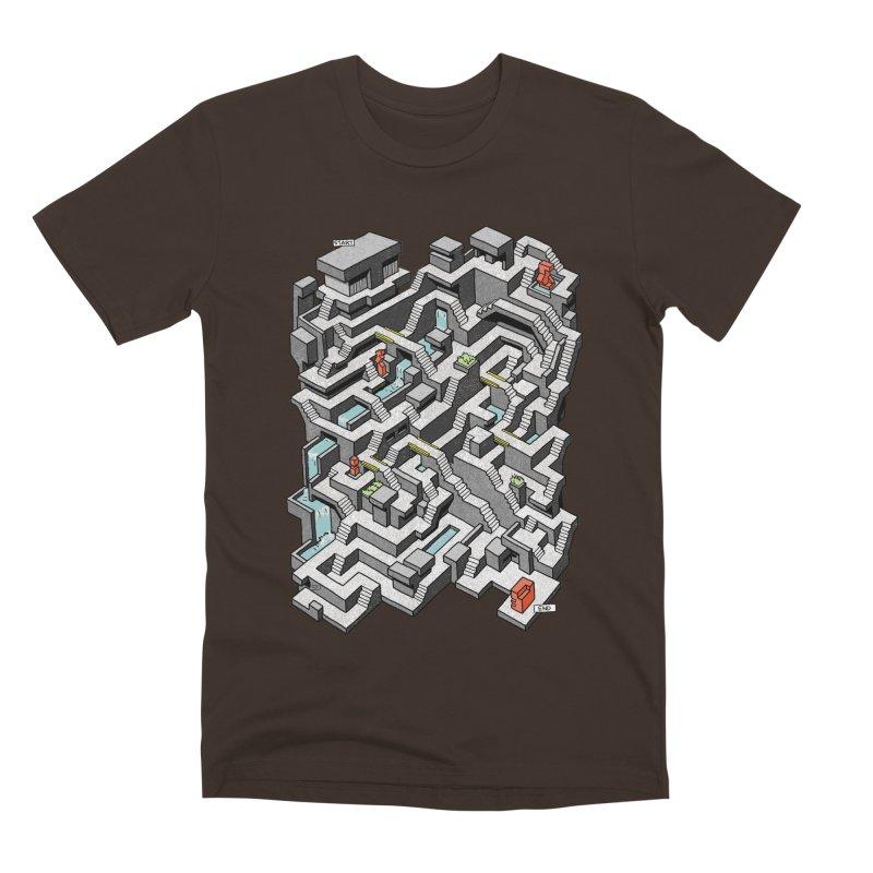 Brutal Maze Men's Premium T-Shirt by Sean C Jackson