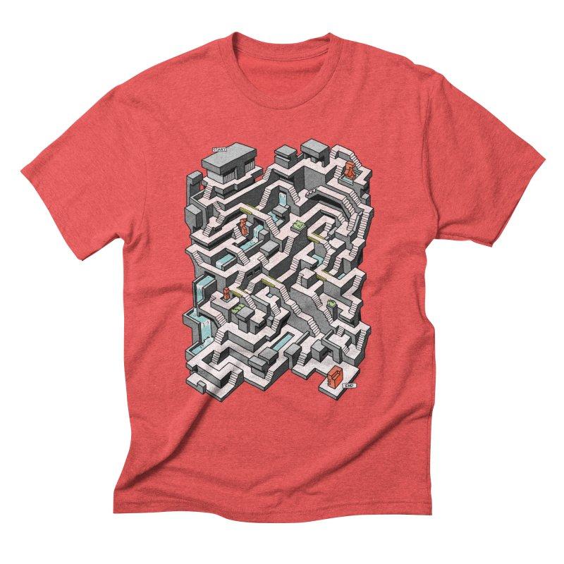 Brutal Maze Men's T-Shirt by Sean C Jackson