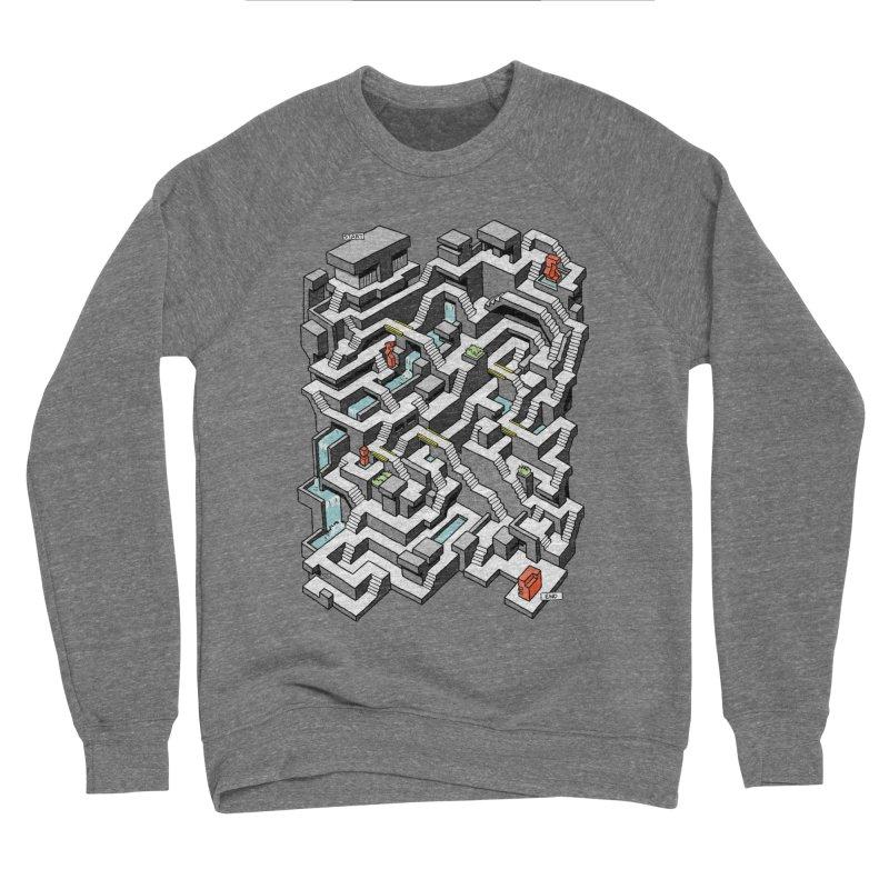 Brutal Maze Men's Sweatshirt by Sean C Jackson