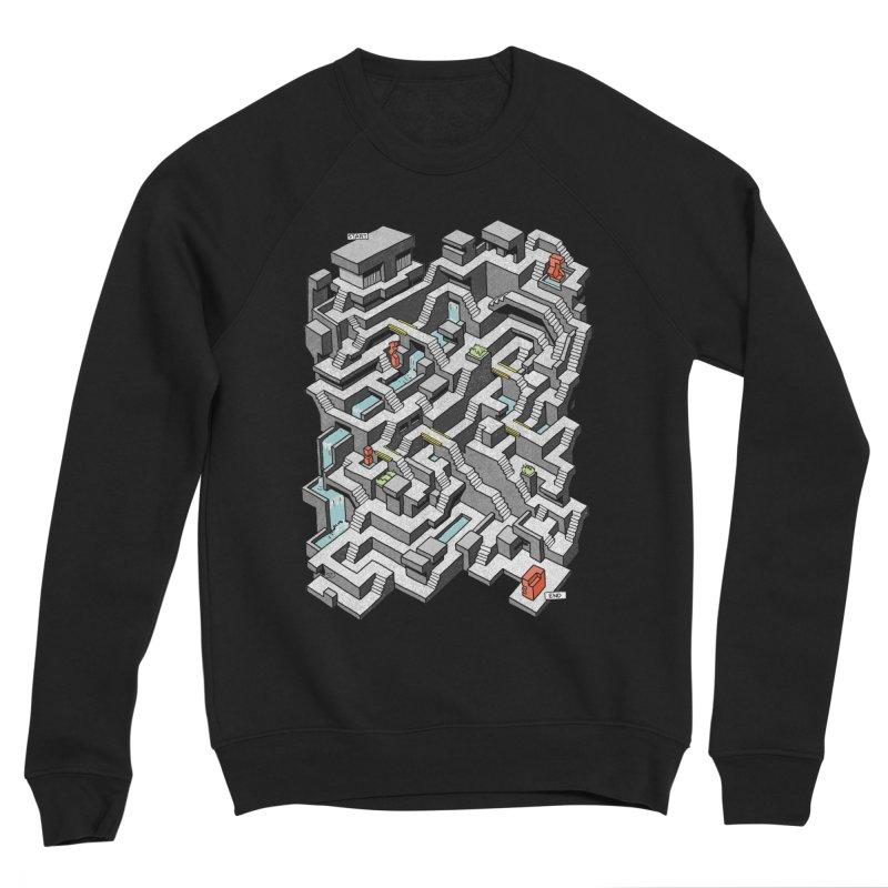Brutal Maze Women's Sponge Fleece Sweatshirt by Sean C Jackson