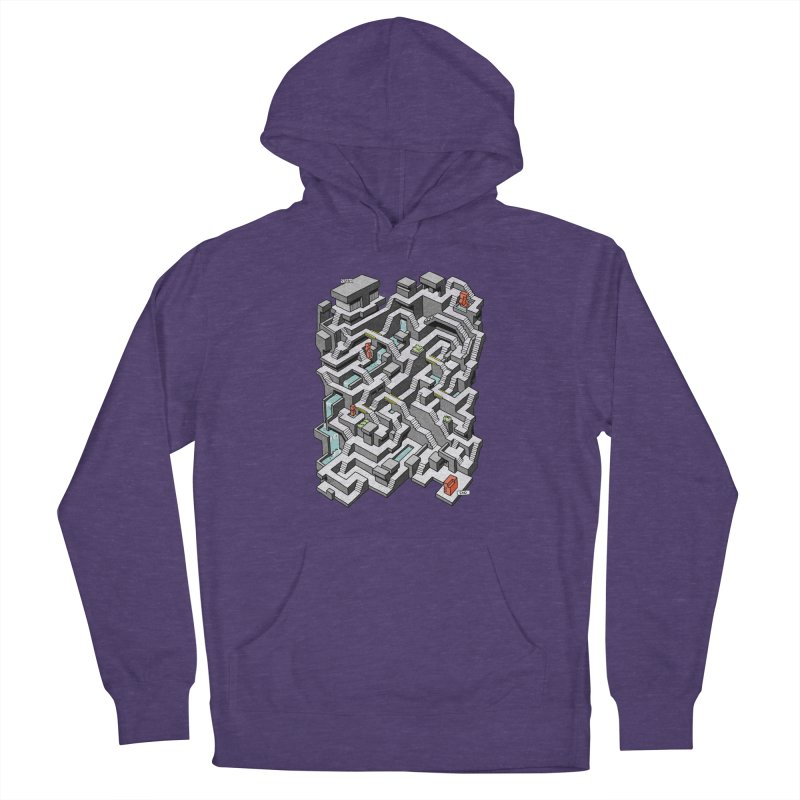 Brutal Maze Men's Pullover Hoody by Sean C Jackson