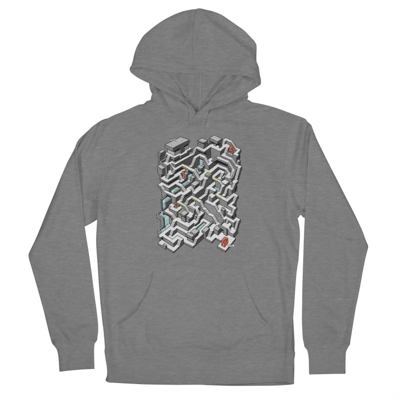 Brutal Maze Men's French Terry Pullover Hoody by Sean C Jackson