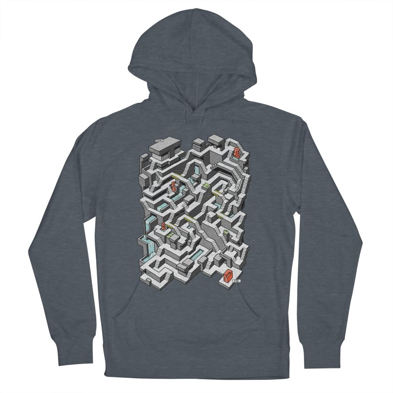 Brutal Maze Women's French Terry Pullover Hoody by Sean C Jackson