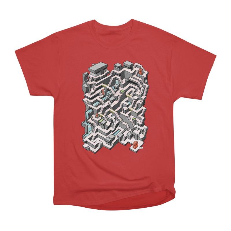 Brutal Maze Men's Heavyweight T-Shirt by Sean C Jackson