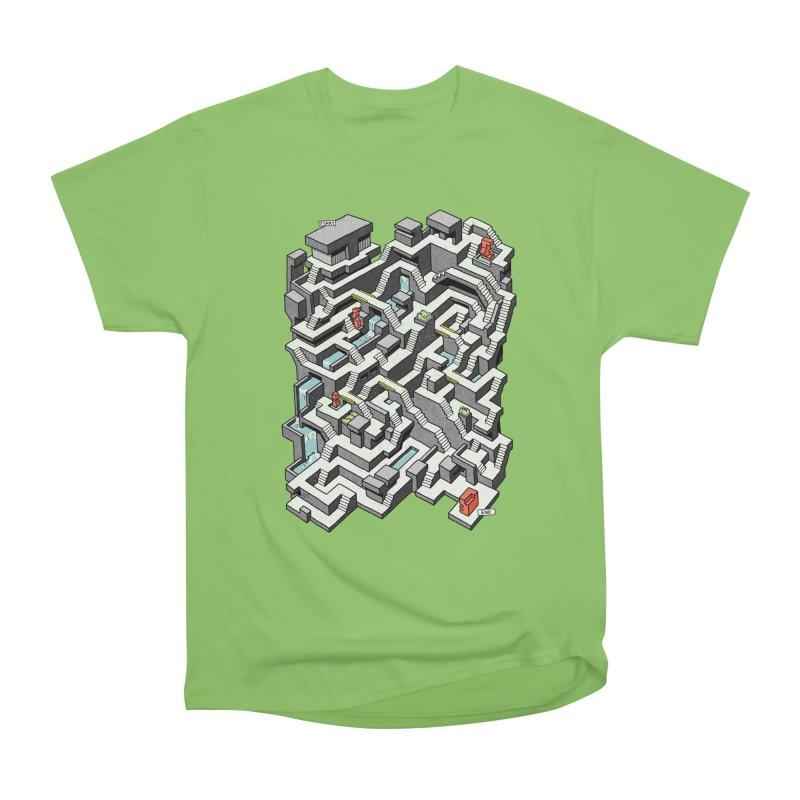 Brutal Maze Women's Heavyweight Unisex T-Shirt by Sean C Jackson