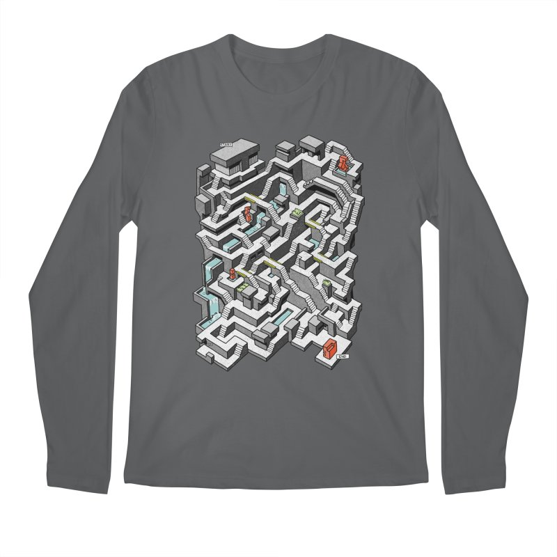Brutal Maze Men's Longsleeve T-Shirt by Sean C Jackson