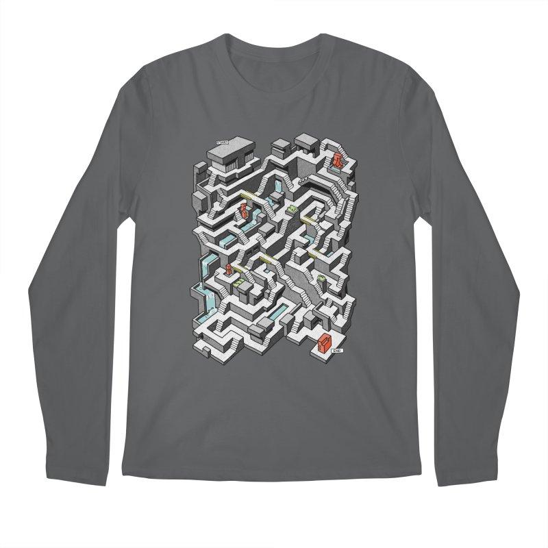 Brutal Maze Men's Longsleeve T-Shirt by Sean C Jackson