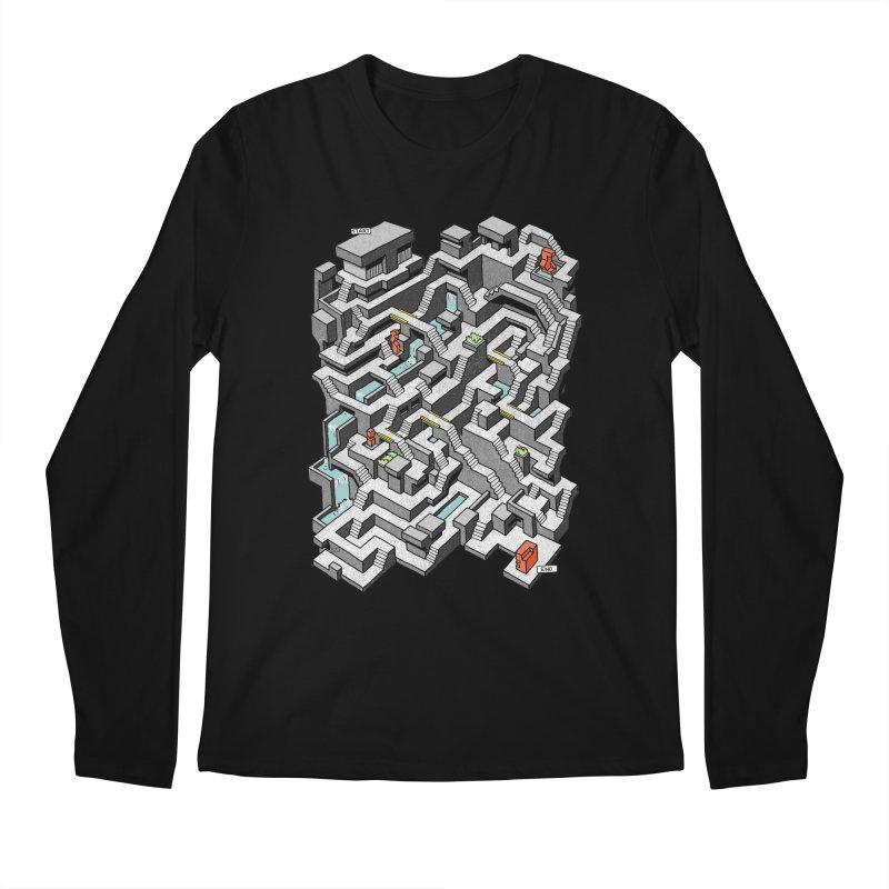 Brutal Maze Men's Regular Longsleeve T-Shirt by Sean C Jackson