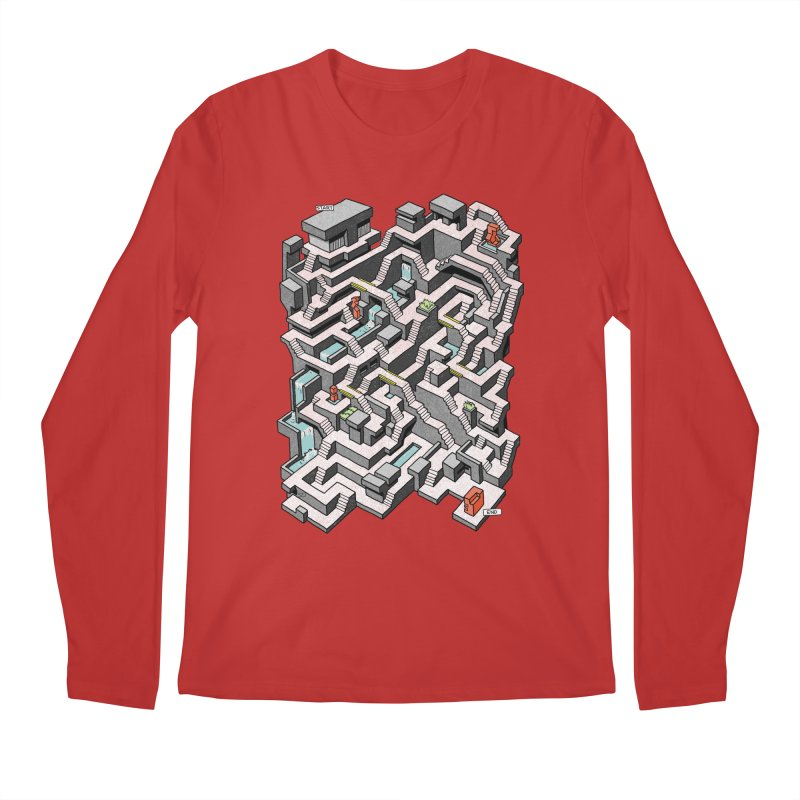 Brutal Maze Men's Regular Longsleeve T-Shirt by Sean C Jackson