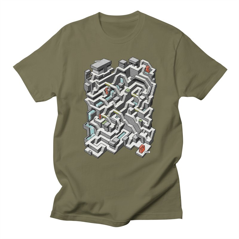 Brutal Maze Men's T-Shirt by Sean C Jackson