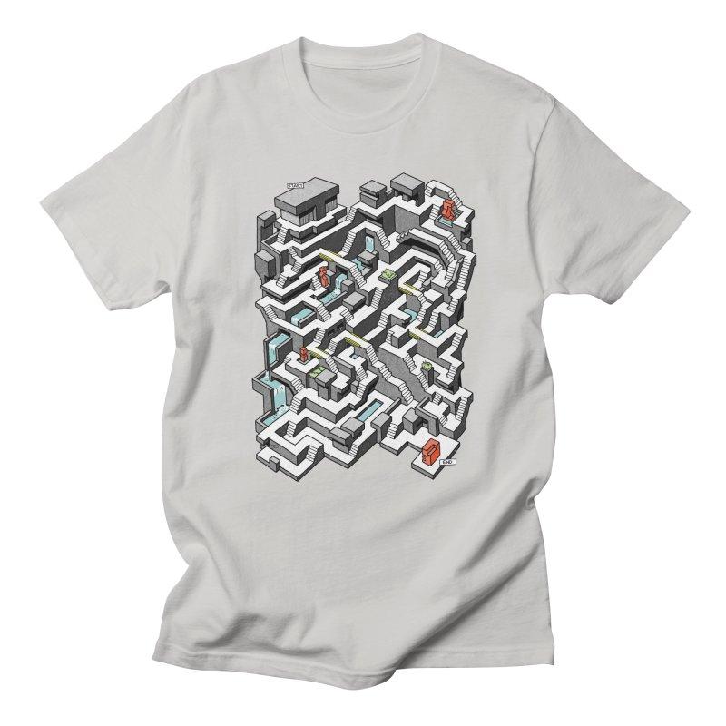 Brutal Maze Men's Regular T-Shirt by Sean C Jackson