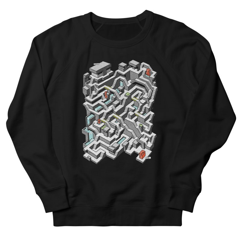 Brutal Maze Women's French Terry Sweatshirt by Sean C Jackson