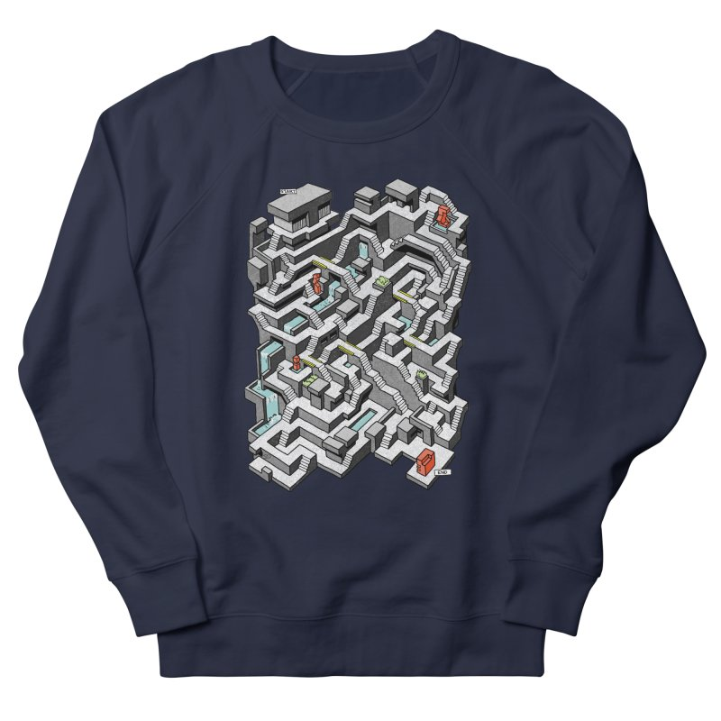 Brutal Maze Women's French Terry Sweatshirt by Sean C Jackson