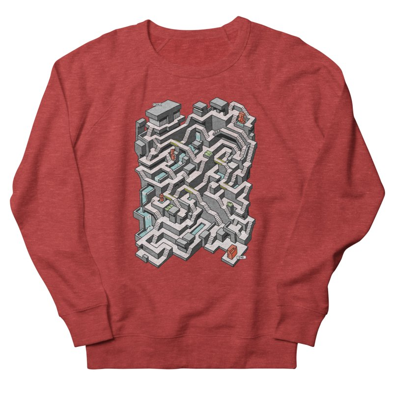 Brutal Maze Men's French Terry Sweatshirt by Sean C Jackson