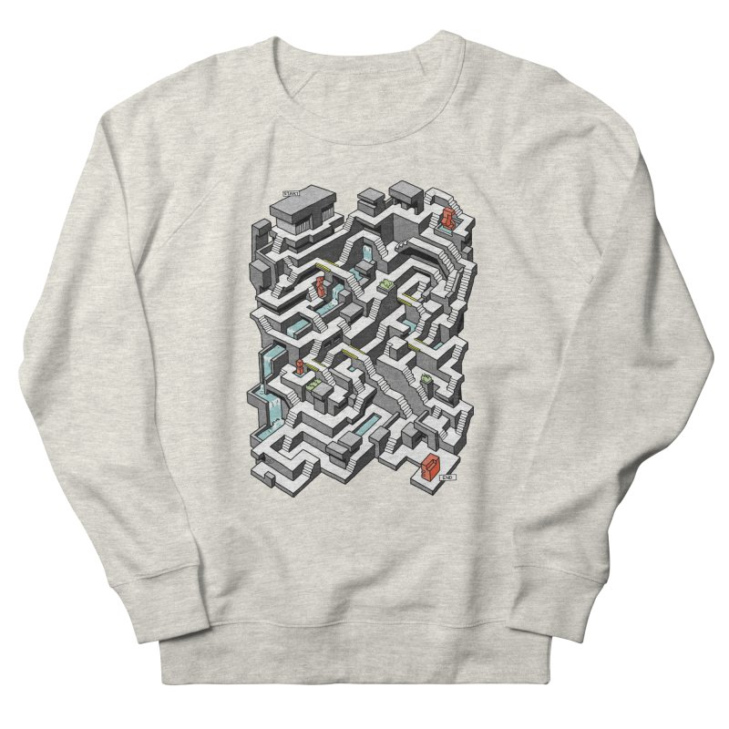 Brutal Maze Men's Sweatshirt by Sean C Jackson