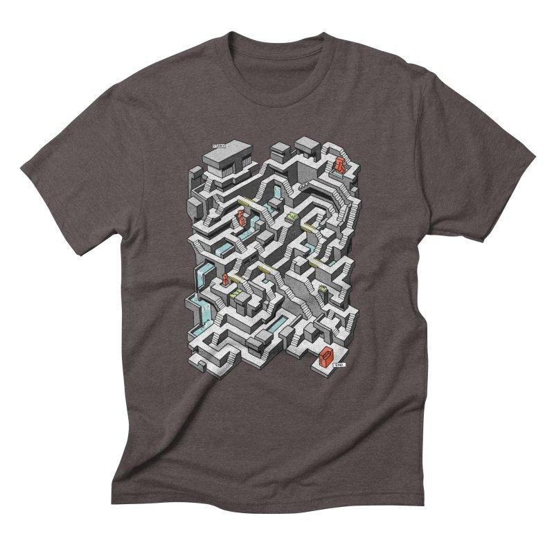 Brutal Maze Men's Triblend T-Shirt by Sean C Jackson