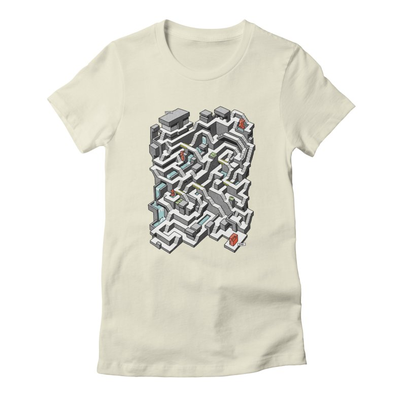 Brutal Maze Women's T-Shirt by Sean C Jackson
