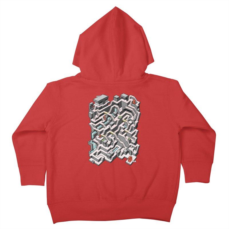 Brutal Maze Kids Toddler Zip-Up Hoody by Sean C Jackson