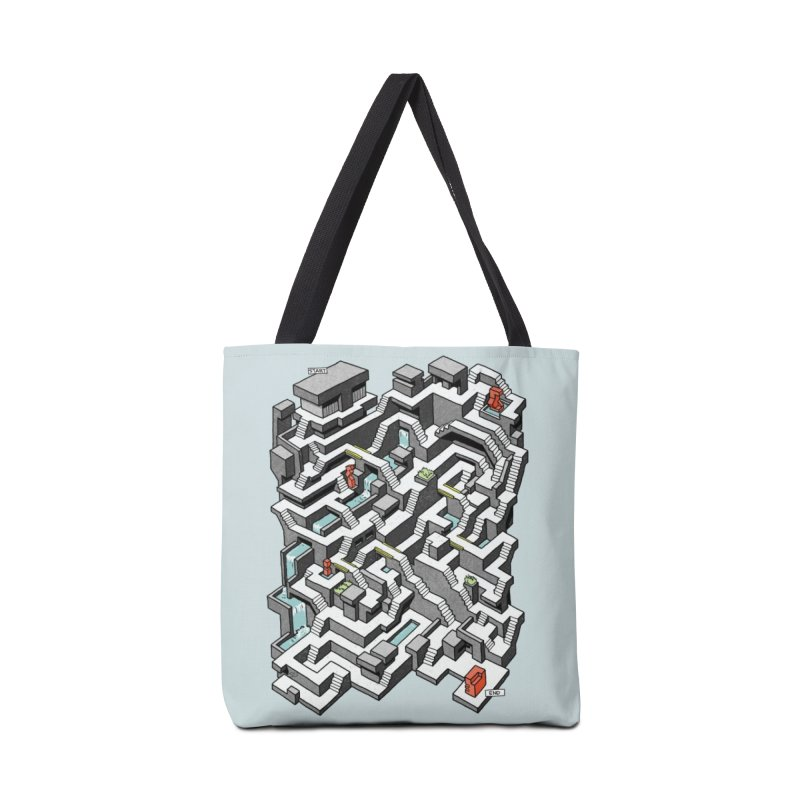Brutal Maze Accessories Tote Bag Bag by Sean C Jackson