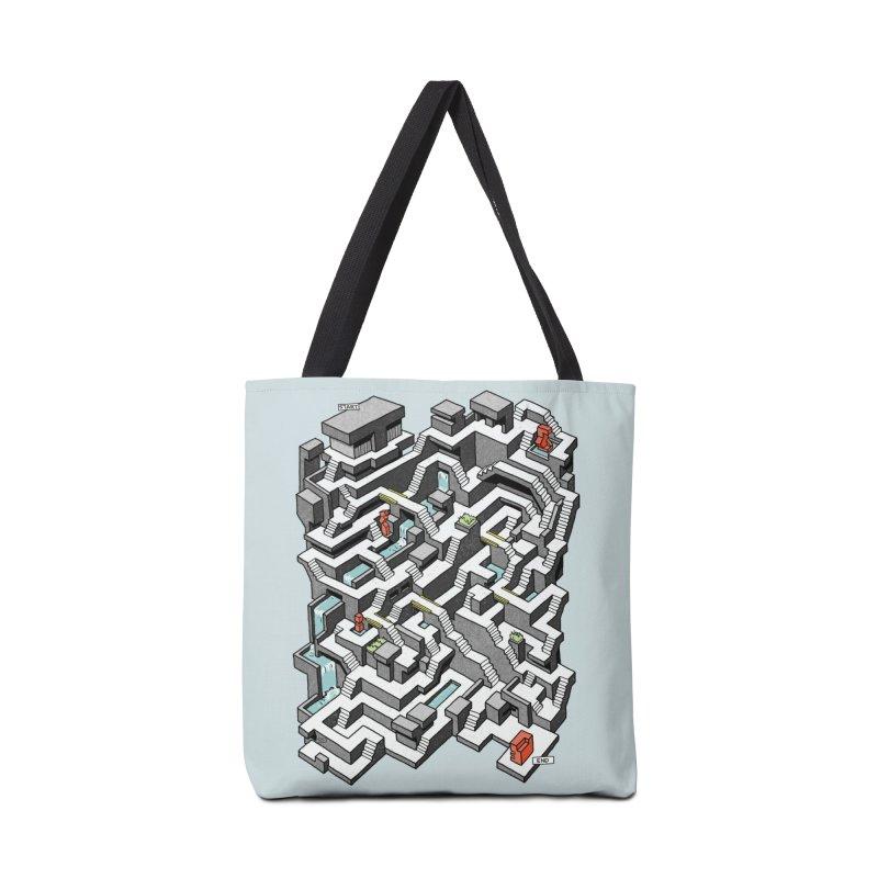 Brutal Maze Accessories Bag by Sean C Jackson