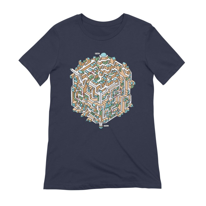 Cube Maze Women's Extra Soft T-Shirt by Sean C Jackson