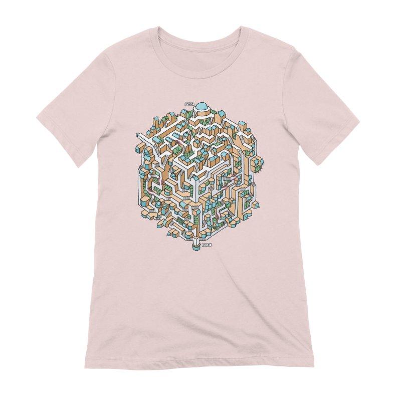 Cube Maze Women's Extra Soft T-Shirt by Sean C Jackson