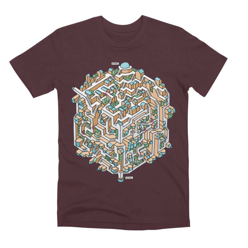 Cube Maze Men's Premium T-Shirt by Sean C Jackson