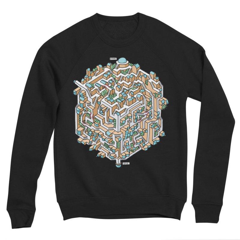 Cube Maze Men's Sponge Fleece Sweatshirt by Sean C Jackson
