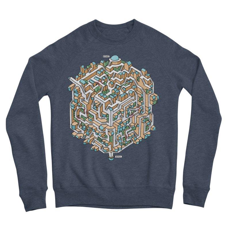 Cube Maze Women's Sponge Fleece Sweatshirt by Sean C Jackson