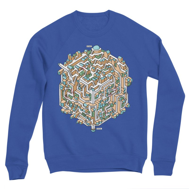 Cube Maze Men's Sponge Fleece Sweatshirt by Sean C Jackson