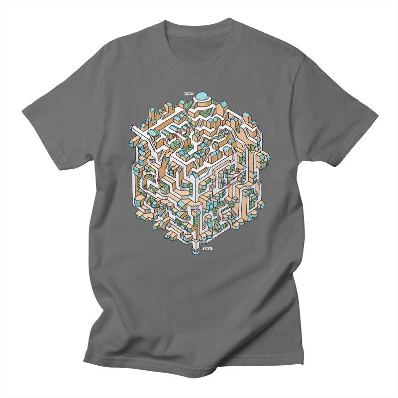 Cube Maze Men's T-Shirt by Sean C Jackson
