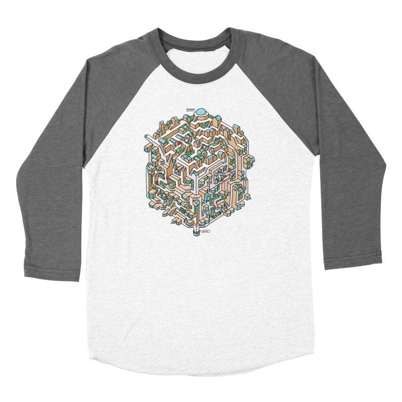 Cube Maze Women's Longsleeve T-Shirt by Sean C Jackson