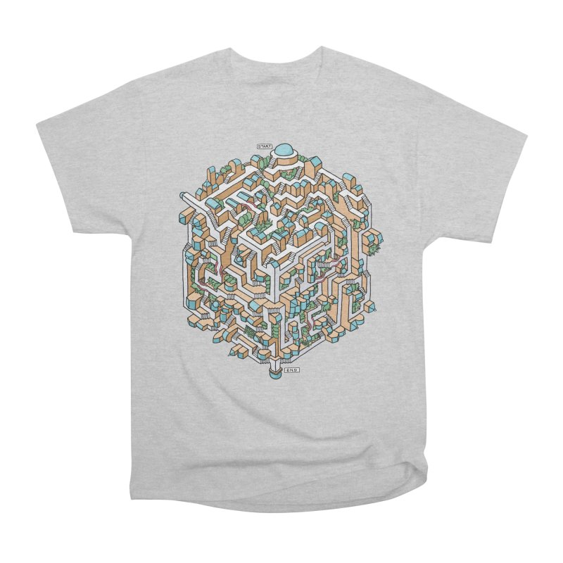 Cube Maze Men's T-Shirt by Sean C Jackson