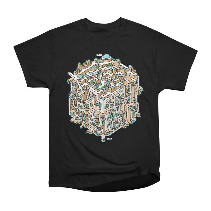 Cube Maze Women's Heavyweight Unisex T-Shirt by Sean C Jackson