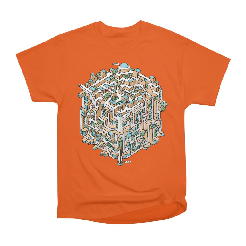 Cube Maze Women's Heavyweight Unisex T-Shirt by Sean C Jackson