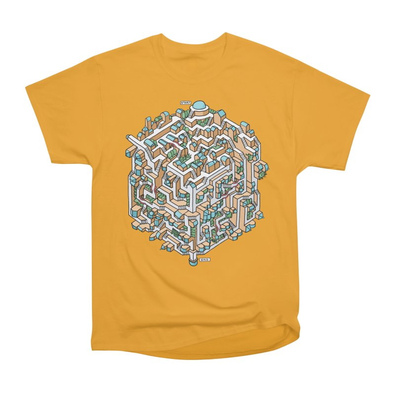 Cube Maze Men's Heavyweight T-Shirt by Sean C Jackson