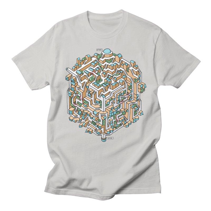 Cube Maze Women's Regular Unisex T-Shirt by Sean C Jackson