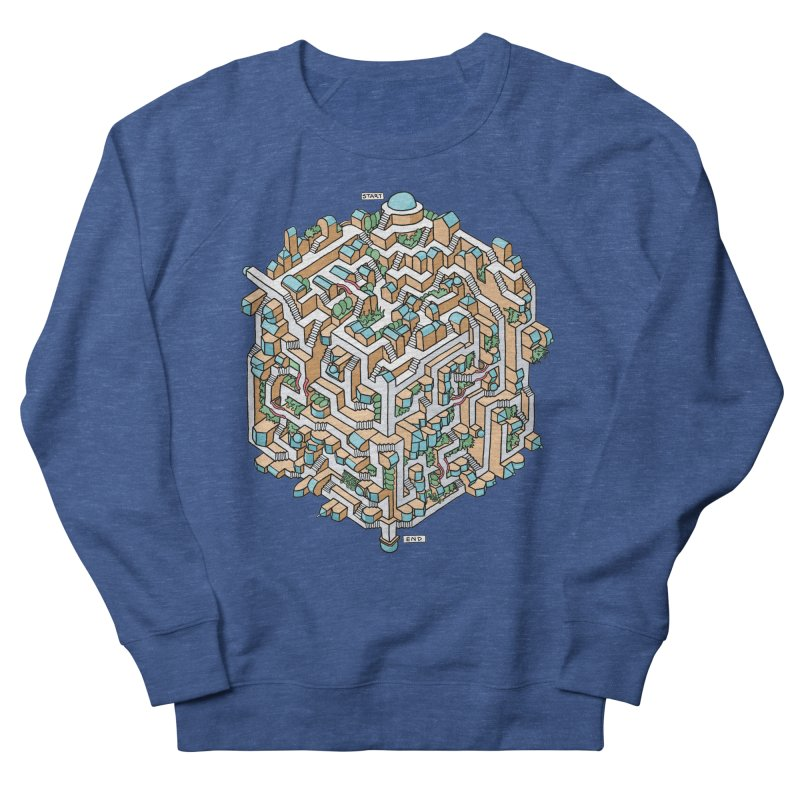 Cube Maze Men's Sweatshirt by Sean C Jackson