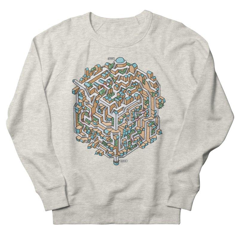 Cube Maze Men's French Terry Sweatshirt by Sean C Jackson