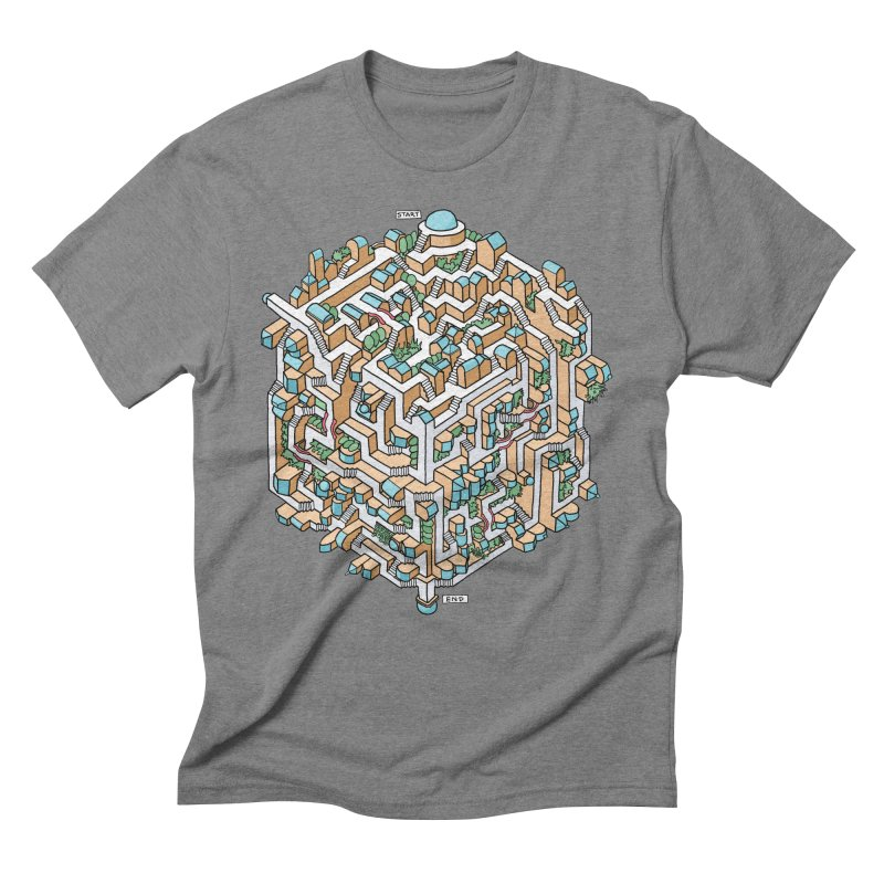 Cube Maze Men's Triblend T-Shirt by Sean C Jackson