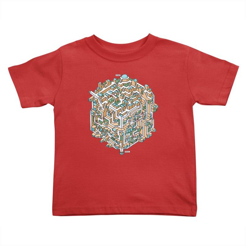 Cube Maze Kids Toddler T-Shirt by Sean C Jackson